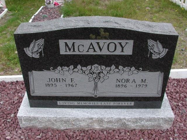 MCAVOY, John F (1967) & Nora M (1979) ODN02-7774