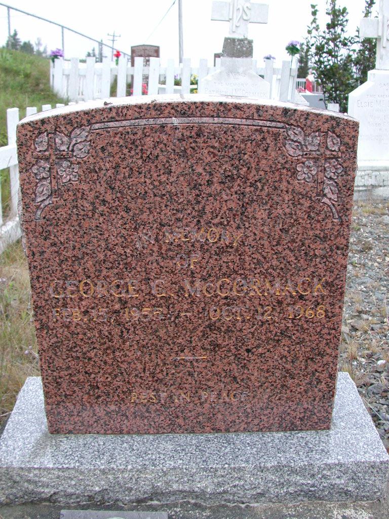 MCCORMACK, George G (1968) SJP01-7415