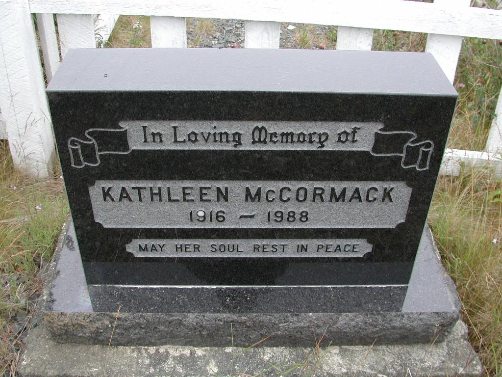 MCCORMACK, Kathleen (1988) SJP01-7414