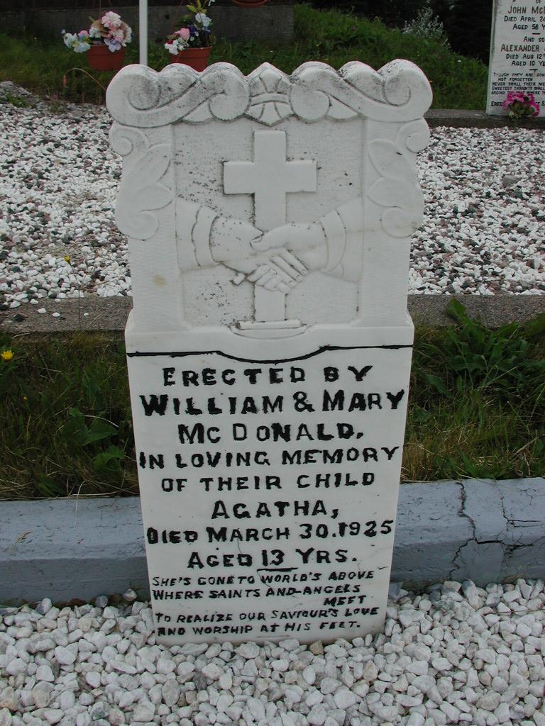 MCDONALD, Agatha (1925) SJP01-7394