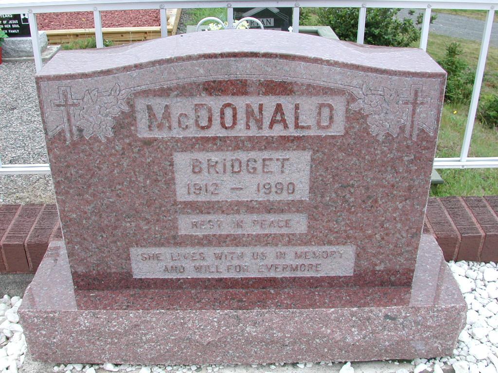 MCDONALD, Bridget (1990) SJP01-7386