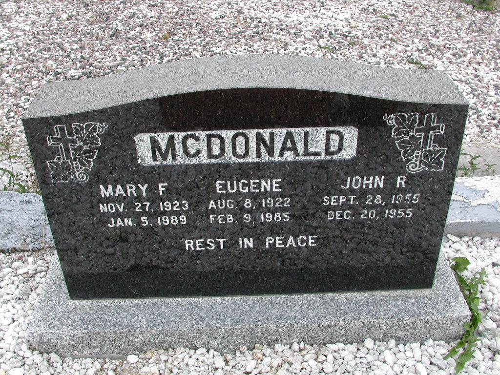 MCDONALD, Eugene (1985) & Mary F & John SJP01-7393