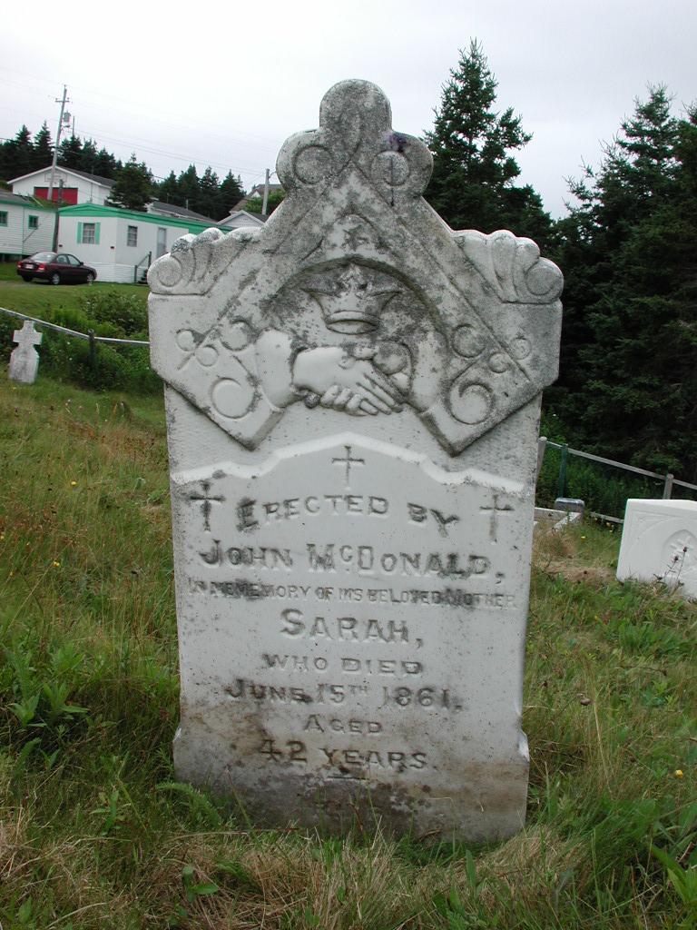 MCDONALD, Sarah (1861) SJP01-1859