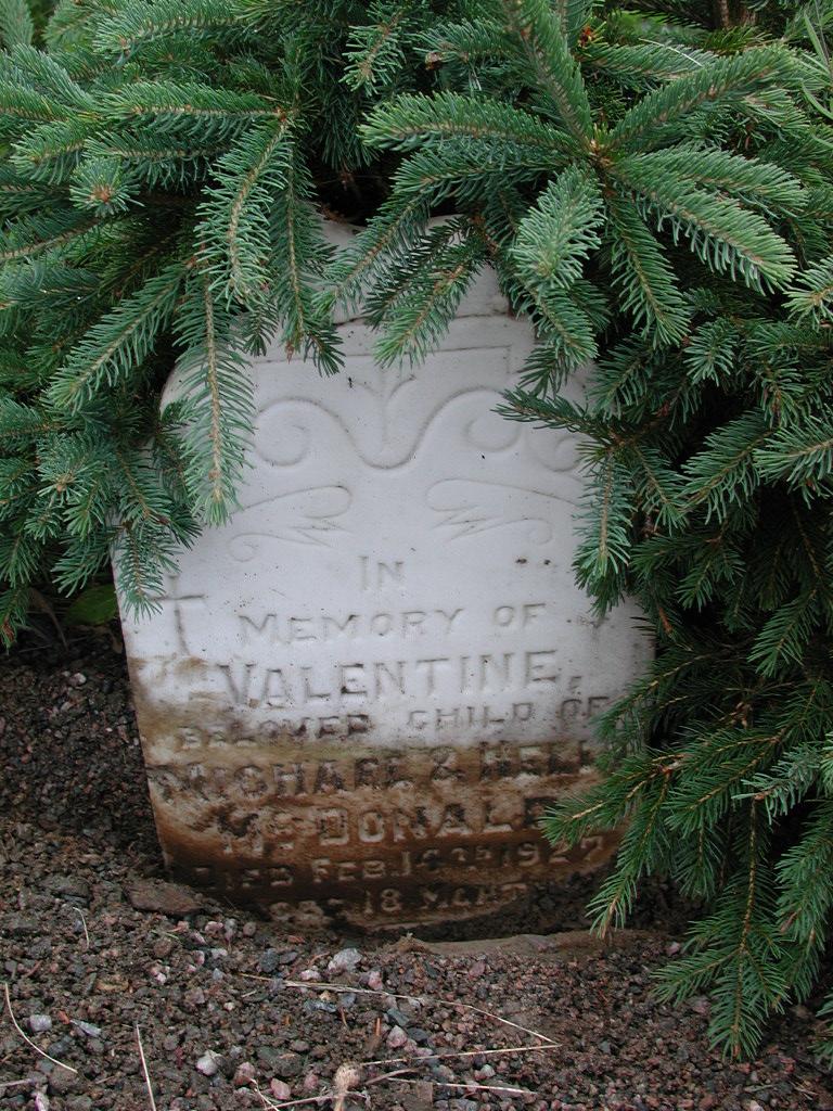 MCDONALD, Valentine (1927) SJP01-1678