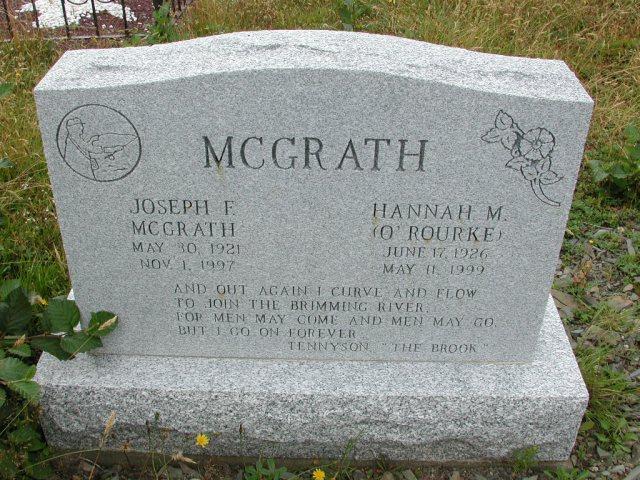 MCGRATH, Joseph F (1997) & Hannah M ORourke BRA01-3157