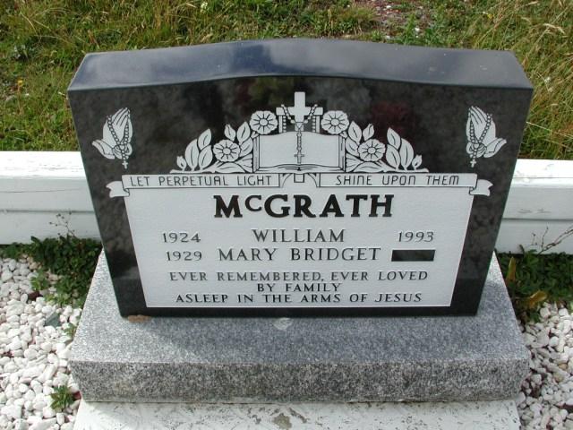 MCGRATH, William (1993) & Mary Bridget BRA01-3261