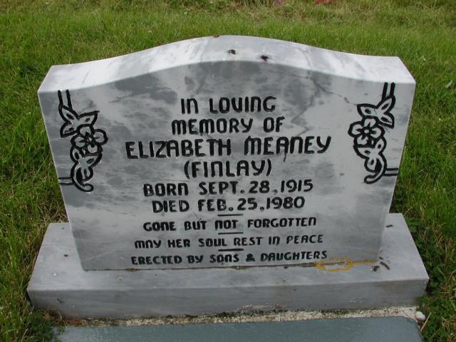 MEANEY, Elizabeth Finlay (1980) SSH01-9006