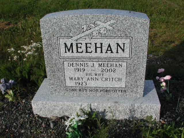 MEEHAN, Dennis J (2002) & Mary Ann Critch STM03-3683