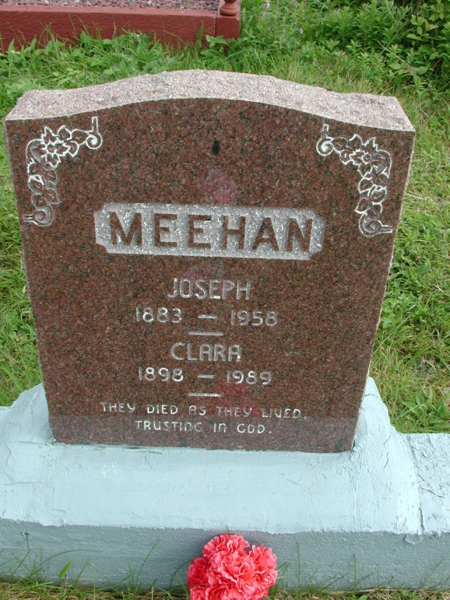 MEEHAN, Joseph (1958) & Clara (1989) STM01-8305