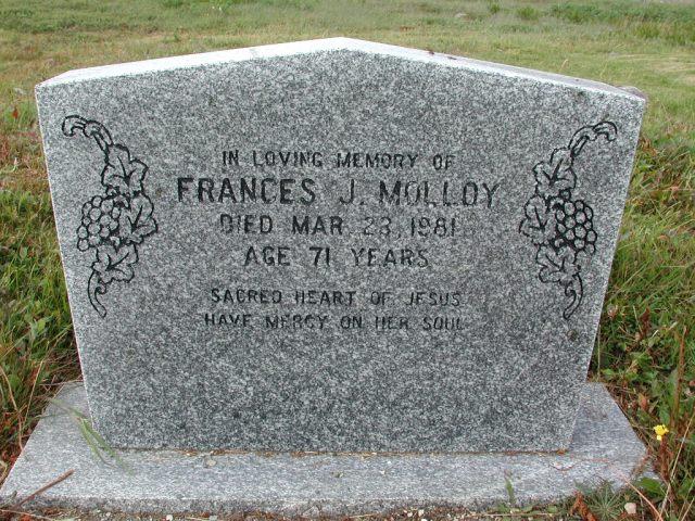 MOLLOY, Frances J (1981) SSH01-3290