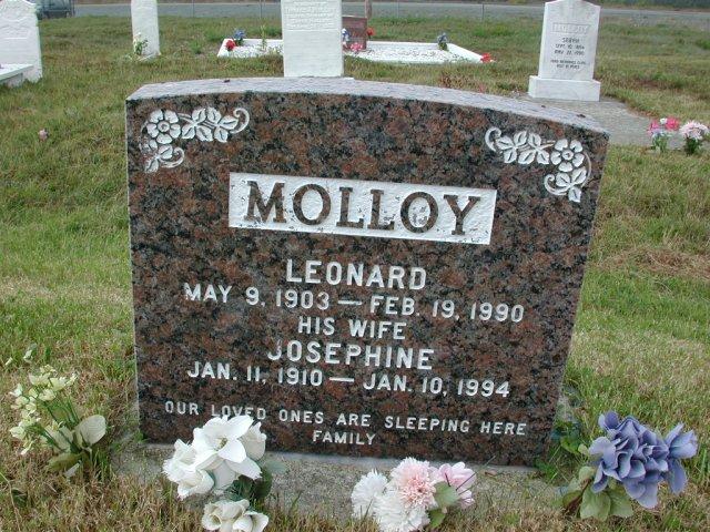 MOLLOY, Leonard (1990) & Josephine (1994) SSH01-3299