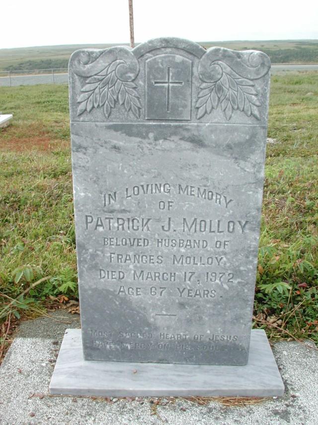 MOLLOY, Patrick J (1972) SSH01-3291