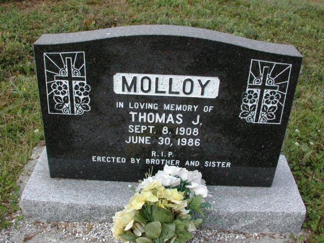 MOLLOY, Thomas J (1986) SSH01-3287
