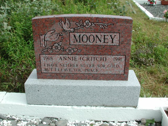 MOONEY, Annie Critch (1991) STM01-2485
