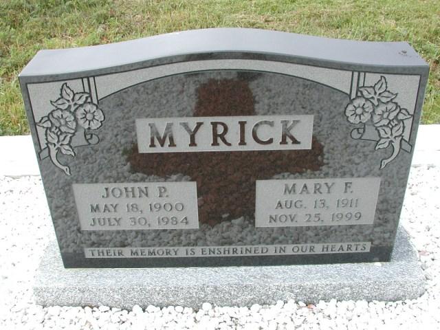 MYRICK, John P (1984) & Mary F (1999) SSH01-8994