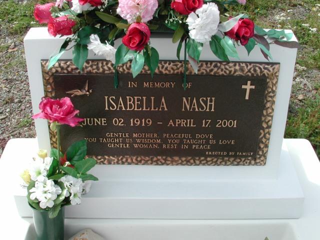 NASH, Isabella (2001) BRA01-3262