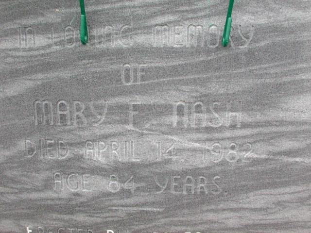NASH, Mary F (1982) BRA01-7788