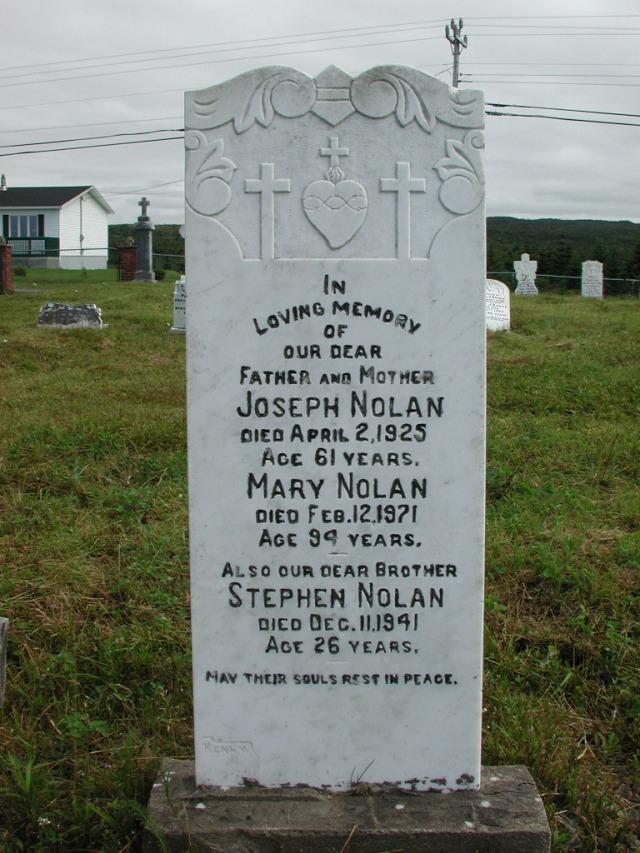 NOLAN, Joseph (1925) & Mary & Stephen STM01-2337