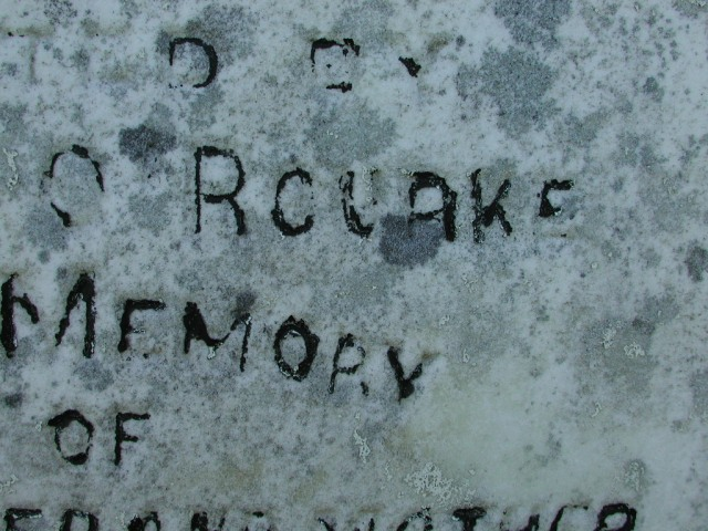 OROURKE, Bartholomew (1909) & Ann (1909) BRA02-3326