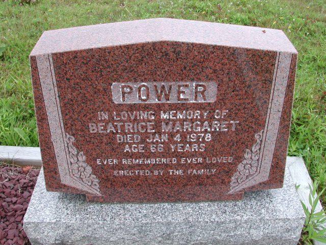POWER, Beatrice Margaret (1978) ODN02-7795