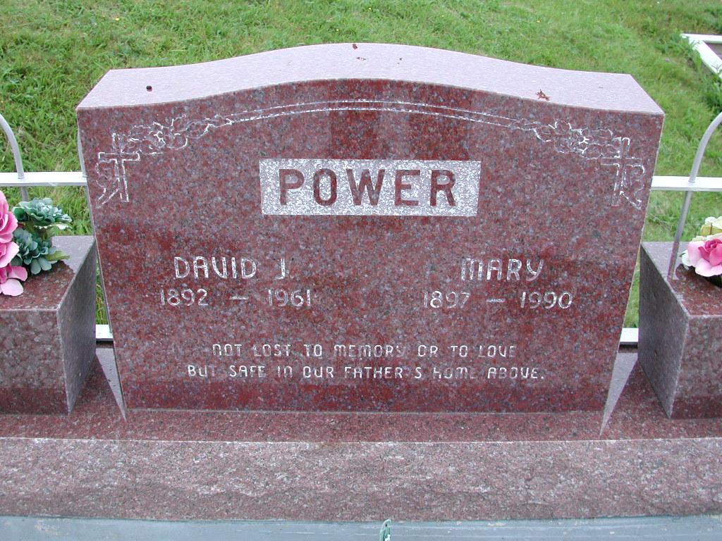 POWER, David J (1961) & Mary (1990) SJP01-7429