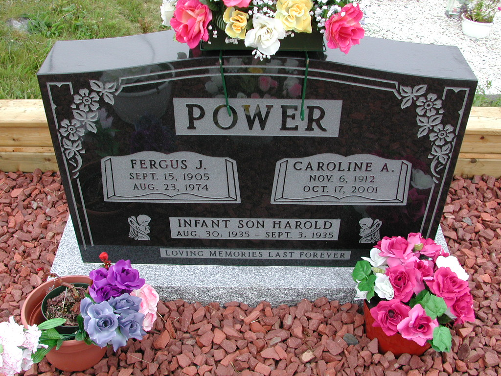 POWER, Fergus J (1974) & Caroline A & Harold SJP01-7380