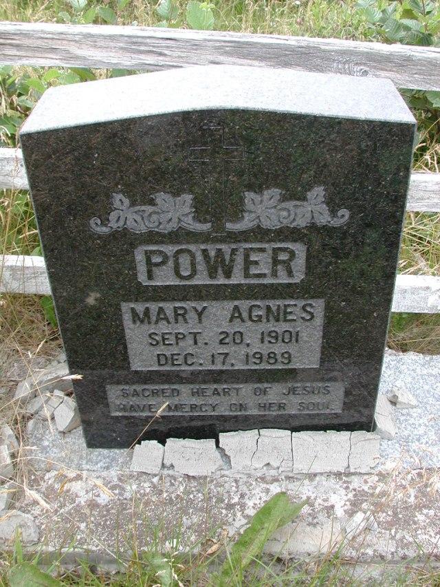 POWER, Mary Agnes (1989) BRA01-3223