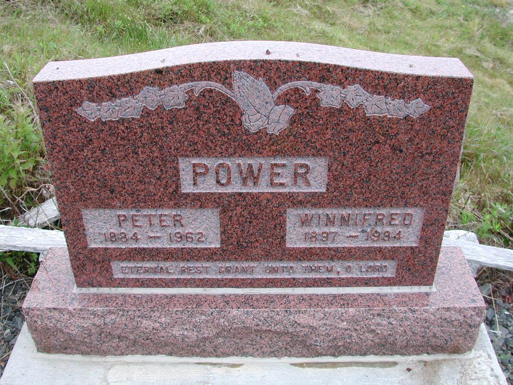 POWER, Peter (1962) & Winnifred (1984) SJP01-7454