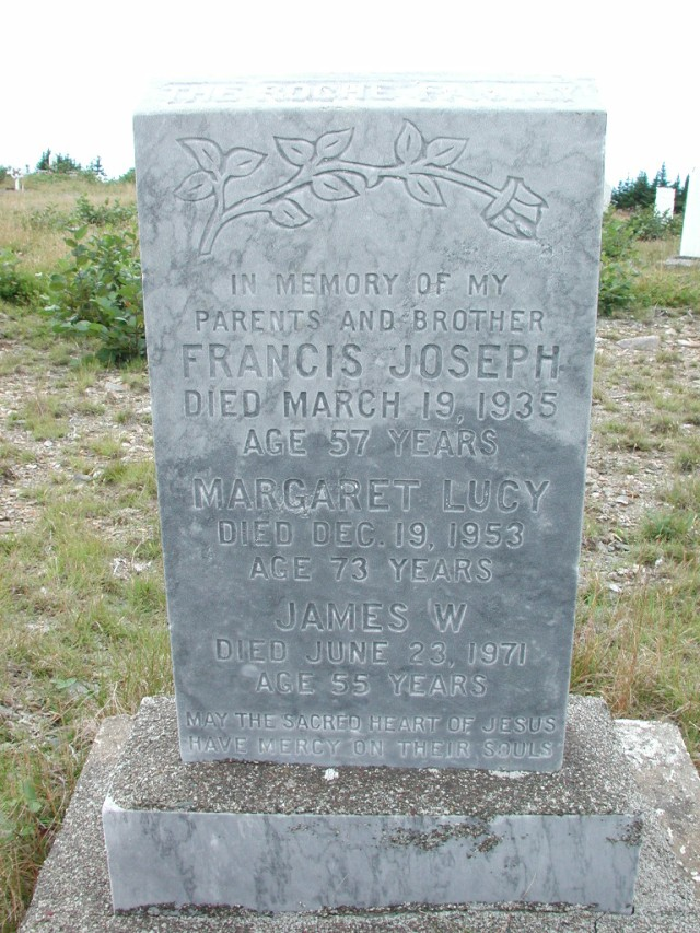 ROCHE, Francis Joseph (1935) & Margaret L & James BRA01-7680