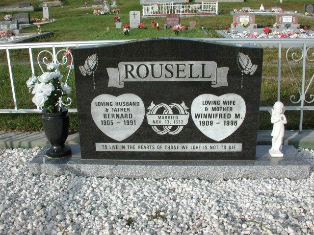 ROUSELL, Bernard (1991) & Winnifred M (1996) STM03-3691