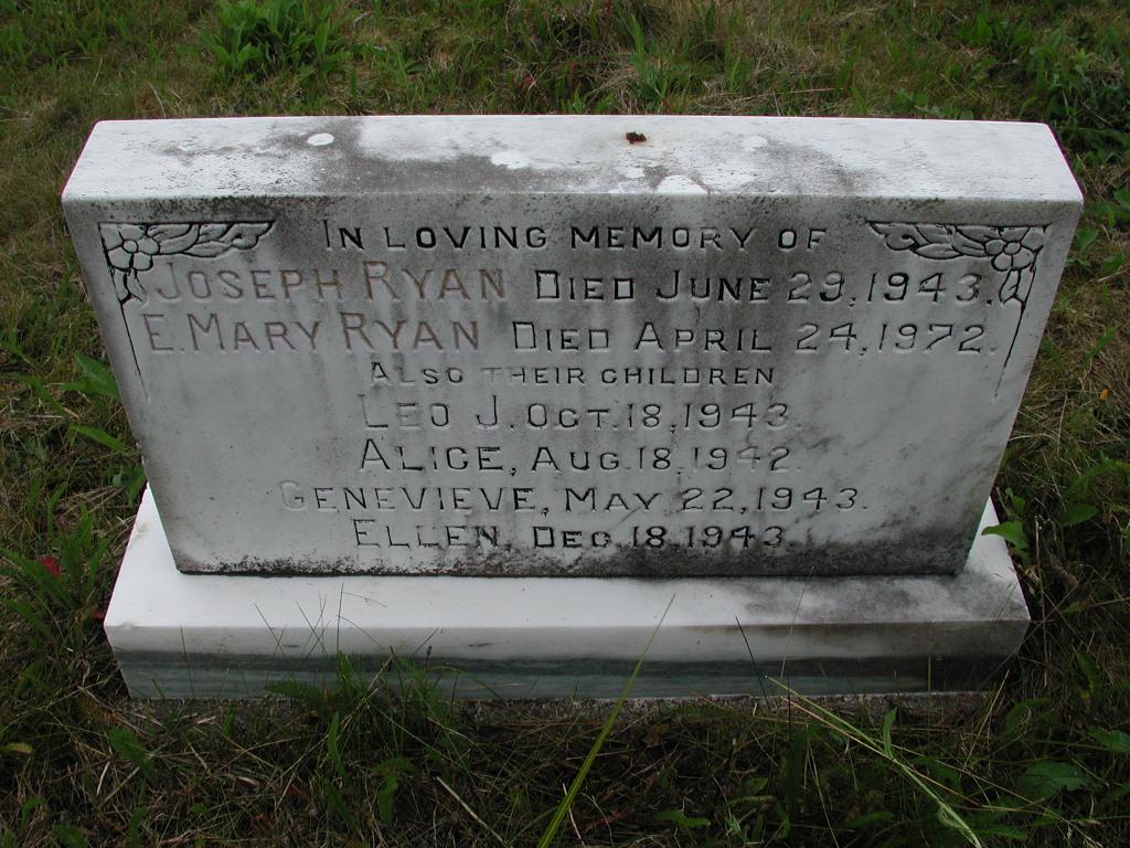 RYAN, Joseph (1943) & Mary & Leo & Alice & G & E SJP01-7465