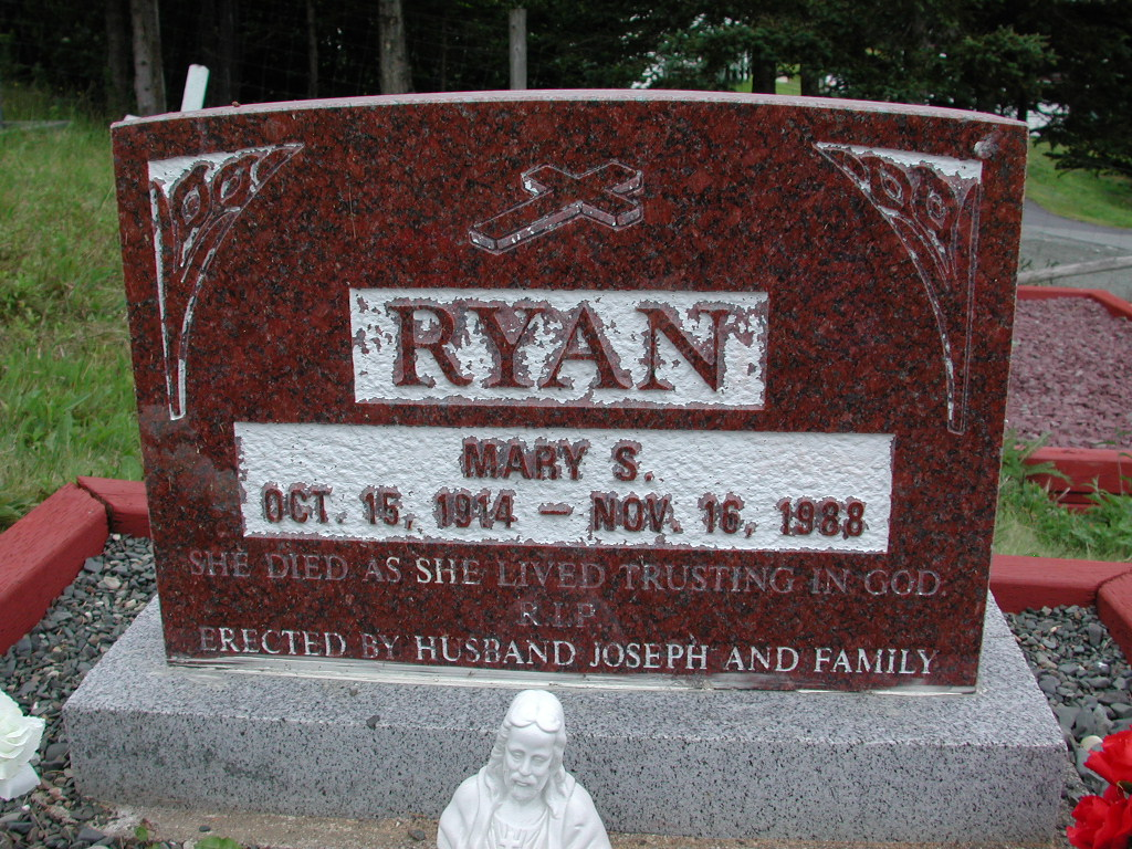 RYAN, Mary S (1988) SJP01-1760