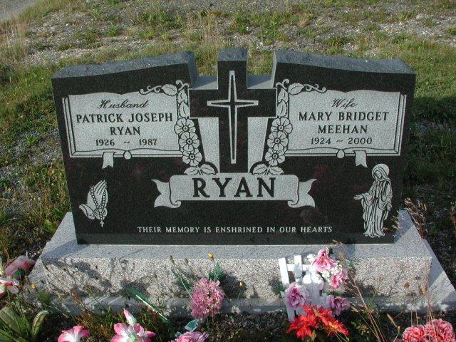 RYAN, Patrick Joseph (1987) & Mary Bridget Meehan STM03-3669