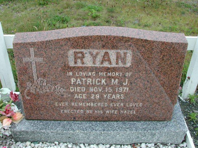 RYAN, Patrick M J (1971) ODN02-7786