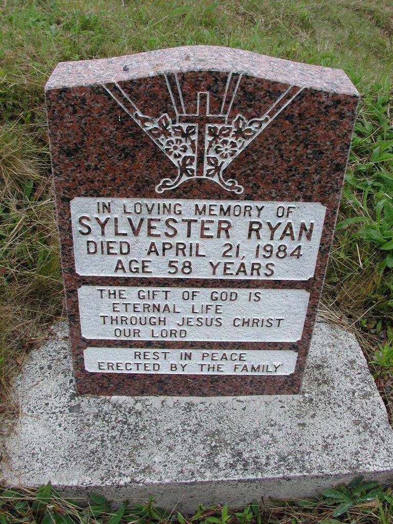 RYAN, Sylvester (1984) SJP01-7448