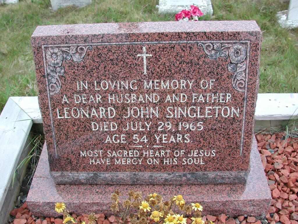 SINGLETON, Leonard John (1965) SJP01-1705
