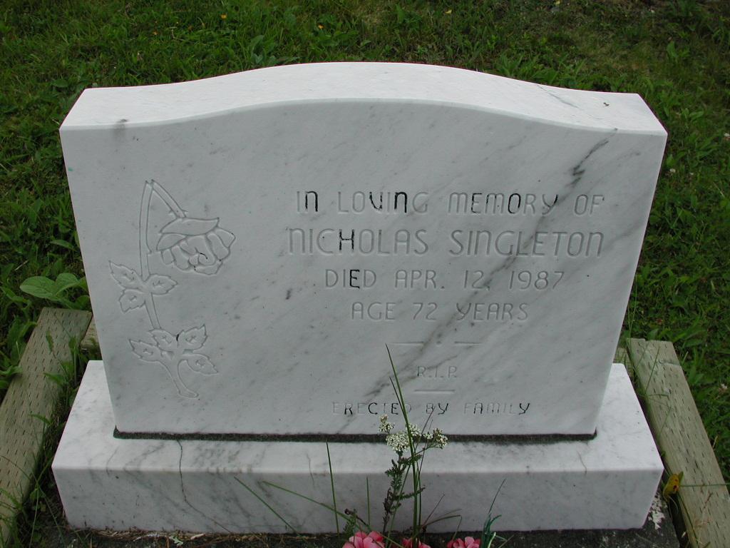 SINGLETON, Nicholas (1987) SJP01-7446