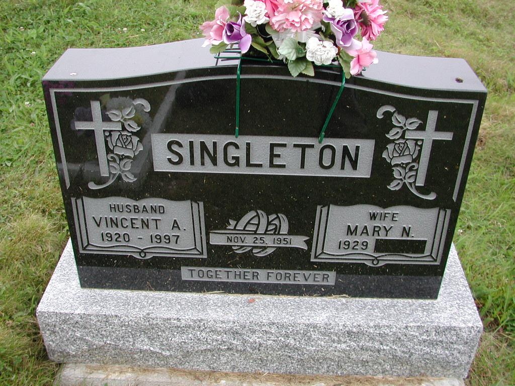 SINGLETON, Vincent A (1997) & Mary N SJP01-7447