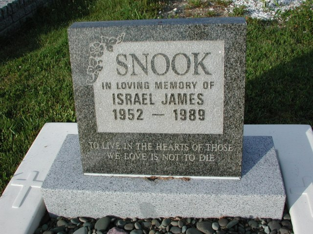 SNOOK, Israel James (1989) STM03-3674
