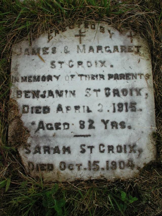 ST CROIX, Benjamin (1915) & Sarah (1904) STM01-2301