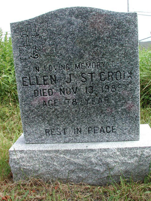 ST CROIX, Ellen J (1989) STM01-2361