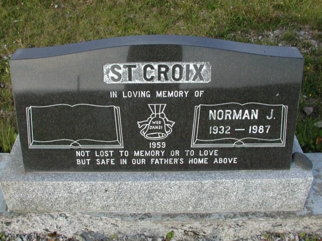 ST CROIX, Norman J (1987) STM03-9503