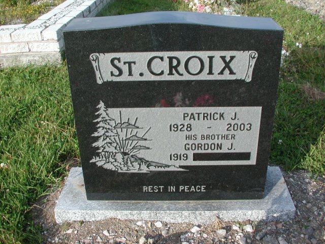 ST CROIX, Patrick J (2003) & Gordon J STM03-3692