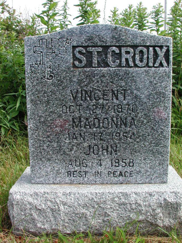 ST CROIX, Vincent (1970) & Madonna & John STM01-2363