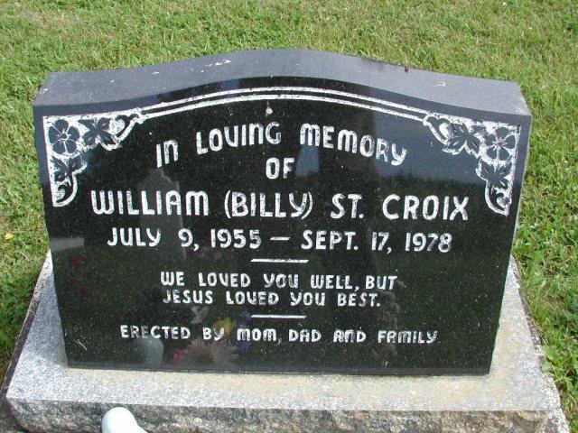 ST CROIX, William Billy (1978) STM01-8192