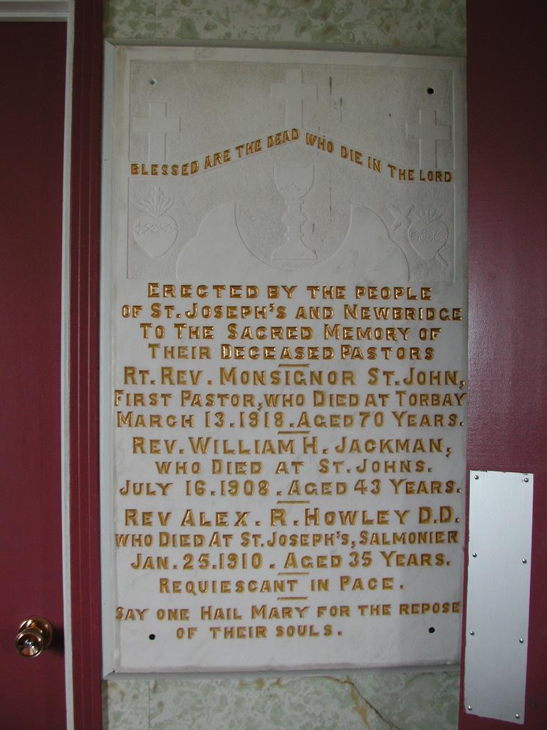 ST JOHN, Monsignor (1918) & others SJP01-1961