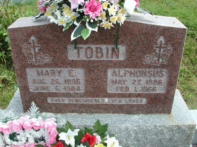 TOBIN, Alphonsus (1966) & Mary E (1984) STM01-8302