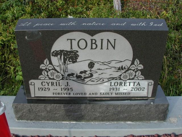 TOBIN, Cyril J (1995) & Loretta (2002) STM03-9481