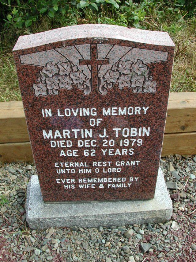 TOBIN, Martin J (1979) STM01-8269
