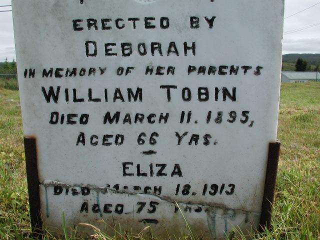 TOBIN, William (1895) & Eliza (1913) STM01-2356